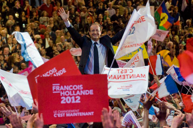 Illustration - À Bercy, François Hollande se pose en archi-favori