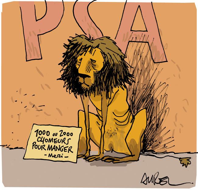 Les dessins de la semaine : Peugeot, le lion affamé