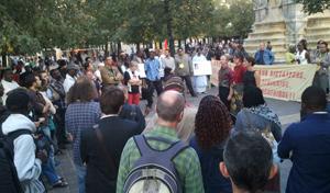 Les opposants à la venue de Blaise Compaoré manifestent, lundi 17 septembre à Paris.