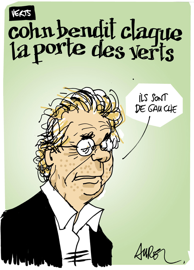 Les dessins de la semaine : Cohn-Bendit et Cécile Duflot...