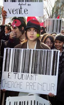 Bordeaux, novembre 2007, les étudiants dénoncent la réforme des universités (loi LRU) - AFP / Pierre Andrieu