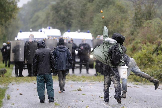 Notre-Dame-des-Landes, 17 octobre 2012 - Jean-Sebastien Evrard / AFP