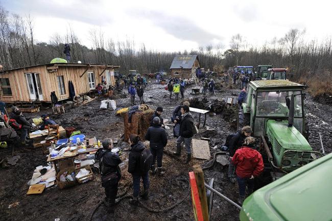 Notre-Dames-des-Landes, lundi 26 novembre. - AFP / Jean-Baptiste Evrard