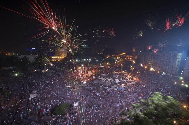 La place Tahrir, le 3 juillet - KHALED DESOUKI / AFP