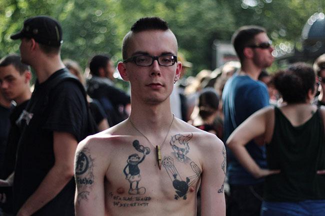 Spook: «C'est important d'être là aujourd'hui. L'antifascisme est une lutte de tous les jours.»