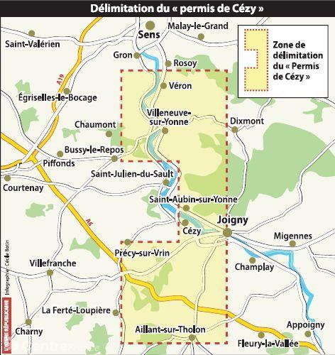 Illustration - Le dangereux projet de recherche d'hydrocarbures dans l'Yonne - Carte réalisée par [lYonne.fr->http://www.lyonne.fr/yonne/actualite/pays/centre-yonne/2014/10/09/la-quete-de-petrole-suscite-la-mefiance_11176070.html]