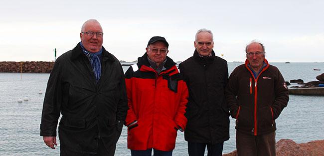 Philippe Soufflet, Jean-François Omnès, Alain Bidal et Jean Le Gorju, piliers du Peuple des dunes en Trégor - Crédits : Lena Bjurström/Politis