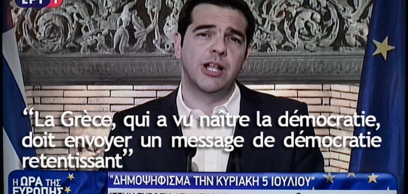 Alexis Tsipras annonce un référendum le 5 juillet