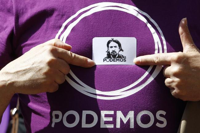 Illustration - VIDEO. La gauche française peut-elle imiter Podemos? - QUIQUE GARCIA / AFP