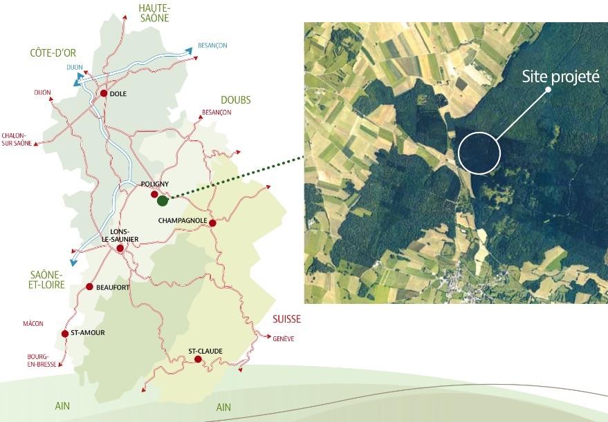 Illustration - Projet contesté d'un Center Parcs dans le Jura - Extrait du projet soumis au débat public.