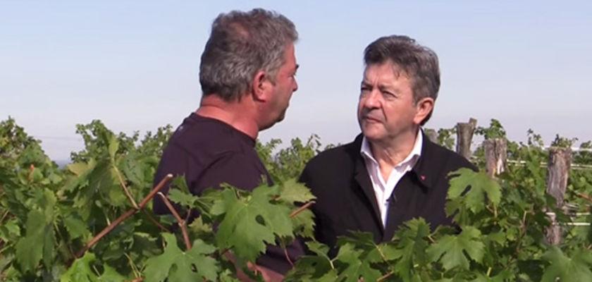 Le goût du vin, selon Jean-Luc Mélenchon