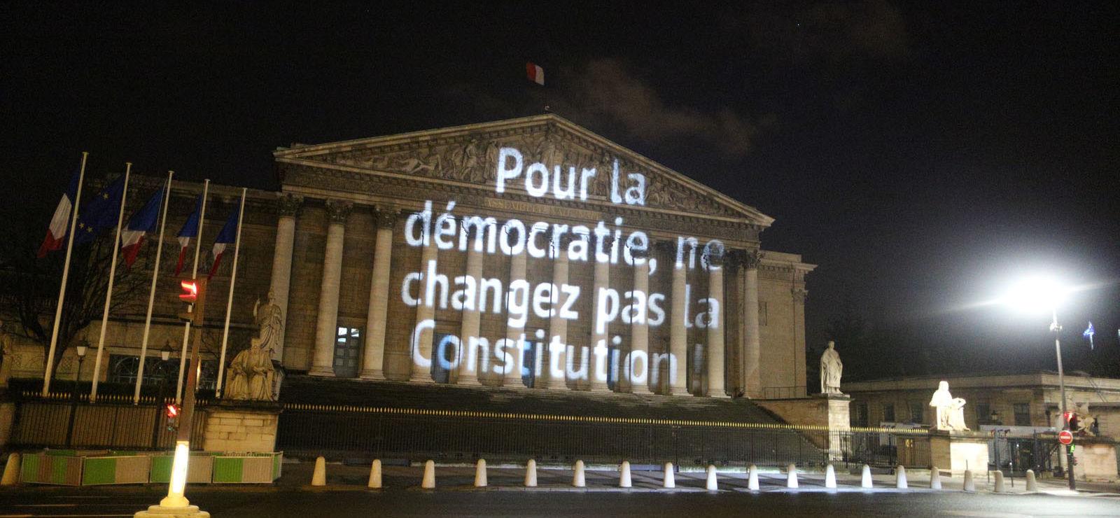 Révision constitutionnelle: Une association écrit son NON sur l'Assemblée