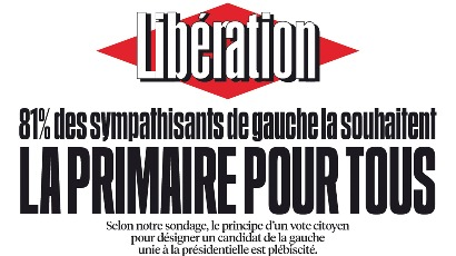 Sondage sur la primaire à gauche : le chiffre caché de « Libération »