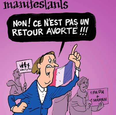 Les dessins de la semaine : manif pour tous et personne pour Hollande