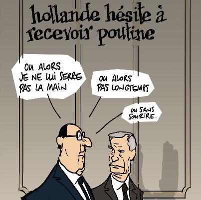 Les dessins de la semaine (spécial couples) : Hollande/Poutine et Bruni/Sarkozy