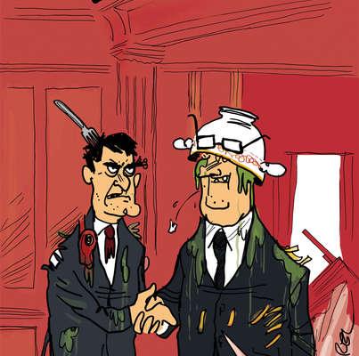 Les dessins de la semaine : Valls et Hollande déjeunent, Fillon savoure
