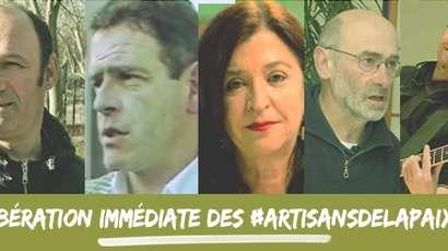 Les pacifistes basques relâchés sous contrôle judiciaire