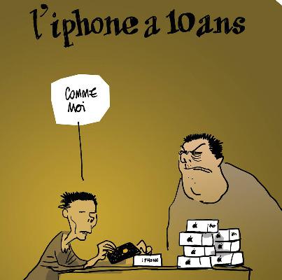 Les dessins de la semaine : l'Iphone fête ses 10 ans, Bachar félicite Fillon