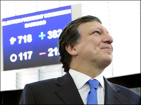Barroso à l'annonce de sa réélection, le 16 septembre.