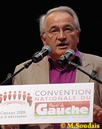 René Revol à la convention nationale du Parti de Gauche, le 6 décembre 2009.