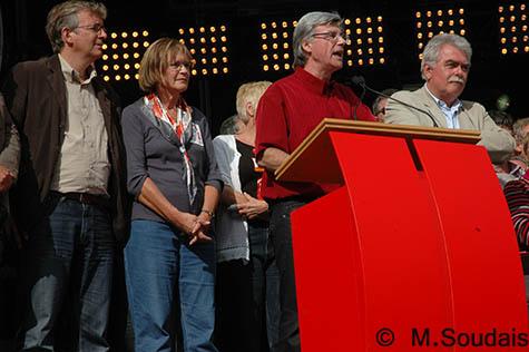 Grande scène de la Fête de l'Huma, le 13 septembre 2009.