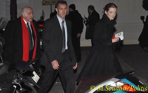 Nathalie Kosciusko-Morizet, ministre de l'Ecologie à son arrivée au Dîner du Siècle.
