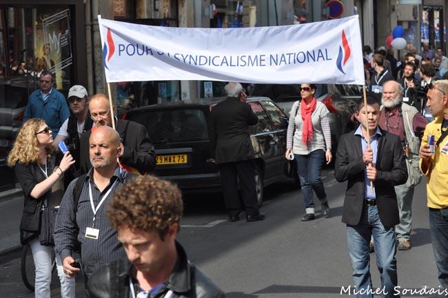 """1er mai 2011. Même affublé du qualificatif """"national"""", le syndicalisme n'attire pas les masses lepénistes."""