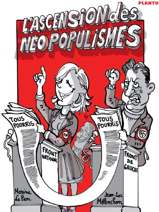 Illustration - Une (Sévère) Leçon De Maintien (Antifasciste) De Christophe Barbier (À Jean-Luc Mélenchon)