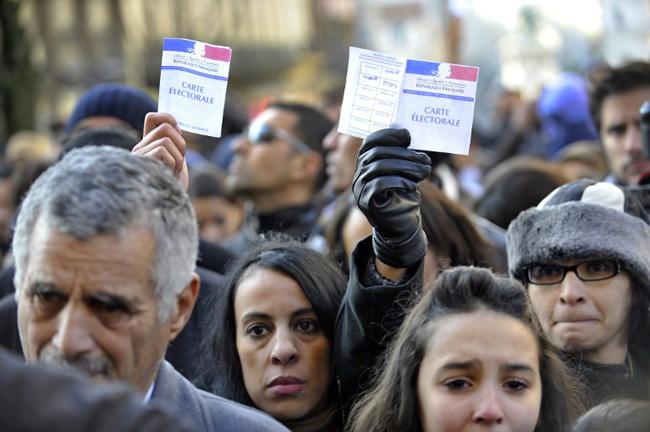 14 janvier 2012 à Clermont-Ferrand, manifestation pour «la vérité et la justice» - AFP PHOTO THIERRY ZOCCOLAN