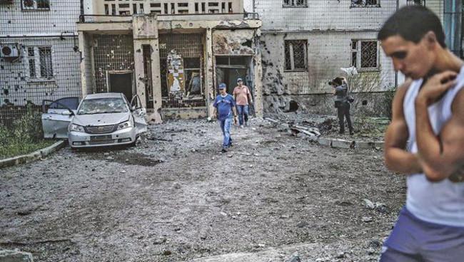 Bombardements sur Donetsk (Ukraine)