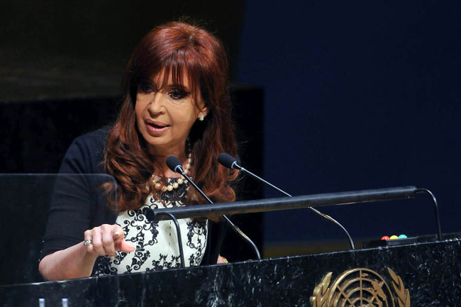 Cristina Kirchner à l'ONU le 24 septembre