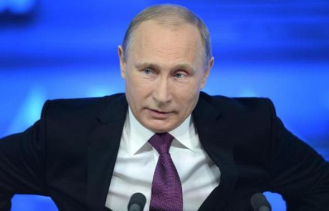 Conférence de presse de Vladimir Poutine, Moscou, 18 décembre 2014 - (photo : AFP/Alexander Nemenov)