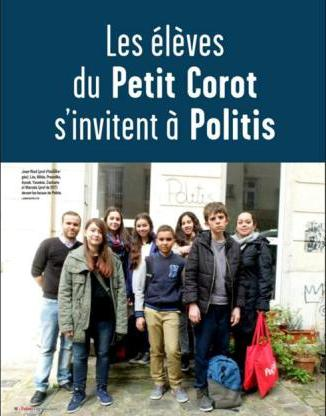 Dossier réalisé par des apprentis journalistes dans le Politis n° 1346 du 26 mars