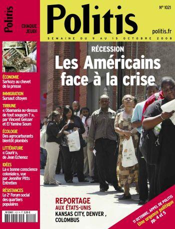 Couverture de l'Hebdo Politis N°1021