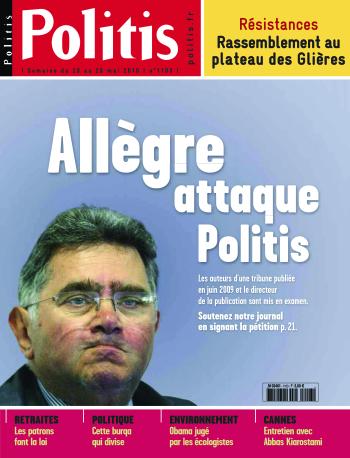 Couverture de l'Hebdo Politis N°1103