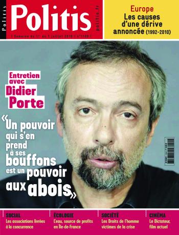 Couverture de l'Hebdo Politis N°1109
