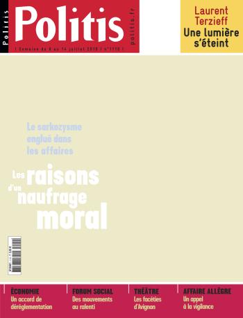 Couverture de l'Hebdo Politis N°1110