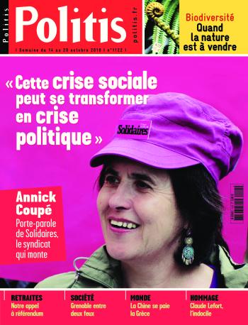 Couverture de l'Hebdo Politis N°1122