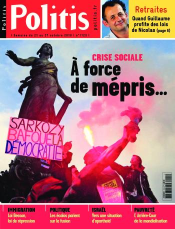 Couverture de l'Hebdo Politis N°1123