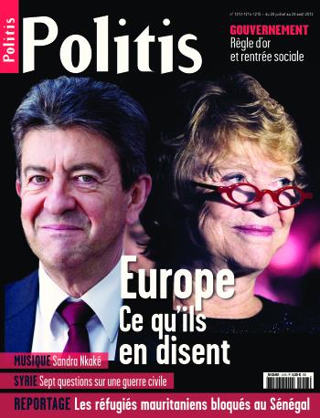 Couverture de l'Hebdo Politis N°1213