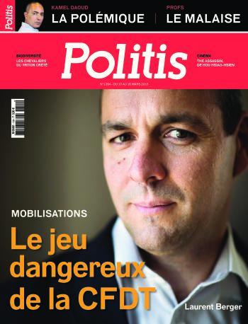 Couverture de l'Hebdo Politis N°1394