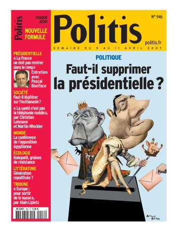 Couverture de l'Hebdo Politis N°946