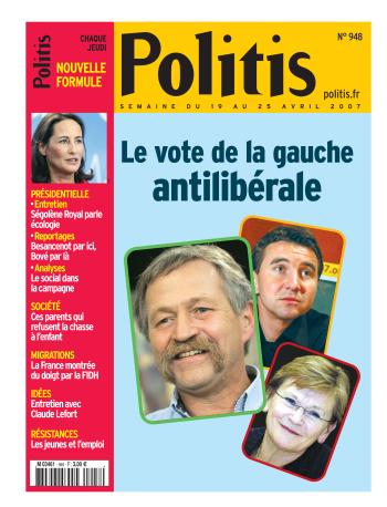 Couverture de l'Hebdo Politis N°948