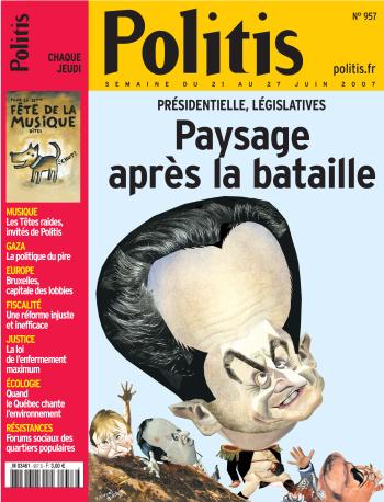 Couverture de l'Hebdo Politis N°957