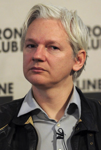 Julian Assange, le 27 février 2012 à Londres. - AFP / Carl Court
