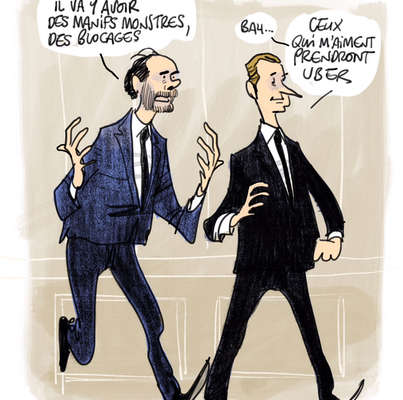 Les dessins de la semaine d'Aurel : Face aux cheminots, Macron optimiste