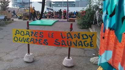 Au Landy sauvage, un confinement en collectif