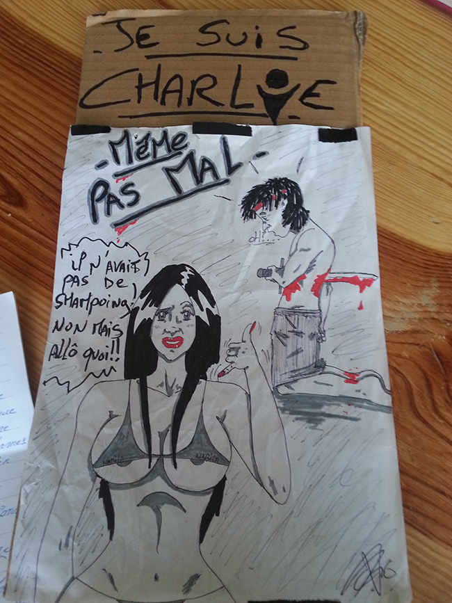 Illustration - Journal de bord d'un SDF: «Je suis Charlie»