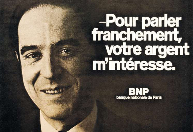 Un document prémonitoire : pub BNP 1973